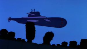 Submarino ruso perseguido por un patrullero británico