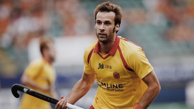 David Alegre disputando un partido con el Real Club de Polo