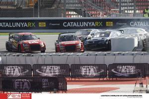 Polémico final del rallycross en Barcelona