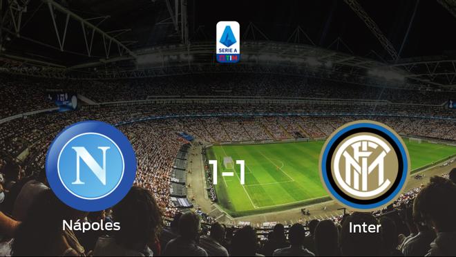 El Nápoles y el Inter reparten los puntos tras empatar a uno
