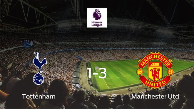 El Manchester United se lleva tres puntos a casa después de vencer 1-3 al Tottenham Hotspur