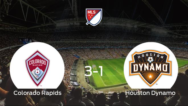 Triunfo del Colorado Rapids frente al Houston Dynamo (3-1)