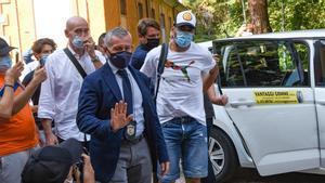 Luis Suárez, en Italia antes de su examen de italiano
