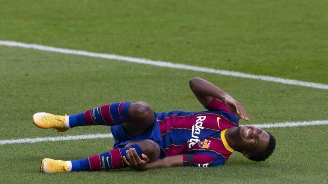 Ansu Fati sufre una rotura del menisco interno
