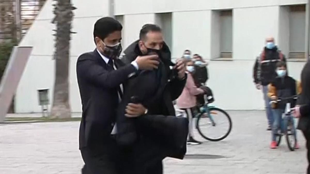 Deja a Messi, ladrón: la llegada a Barcelona de Al-Khelaifi que captaron las cámaras de El Golazo de Gol
