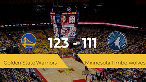 Golden State Warriors consigue ganar a Minnesota Timberwolves (123-111)