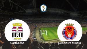 El Cartagena B y la Deportiva Minera empatan 1-1 y se reparten los puntos