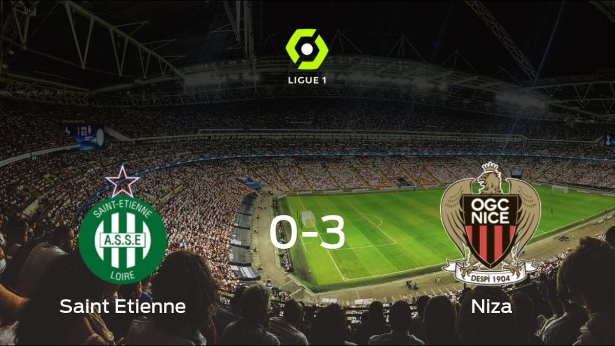 El OGC Niza le arrebata los tres puntos al AS Saint Etienne (0-3)
