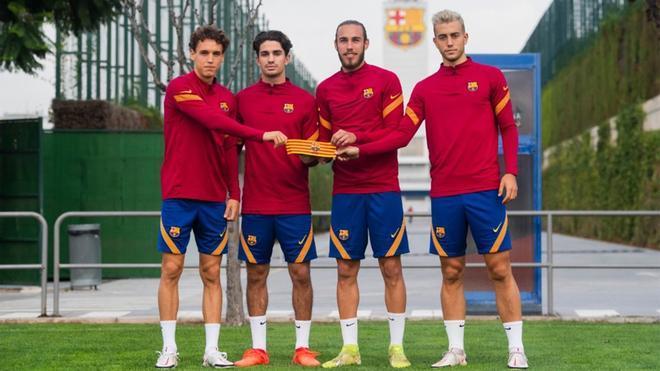 Los cuatro nuevos capitanes del Barça B para la temporada 2020/21