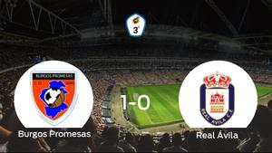 El Burgos Promesas consigue la victoria frente al Real Ávila en el segundo tiempo (1-0)