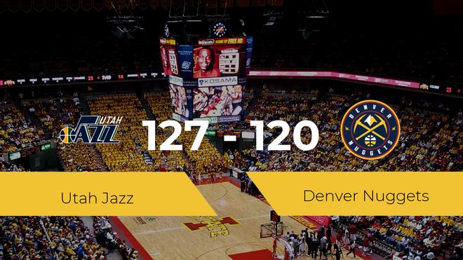 Utah Jazz gana a Denver Nuggets por 127-120