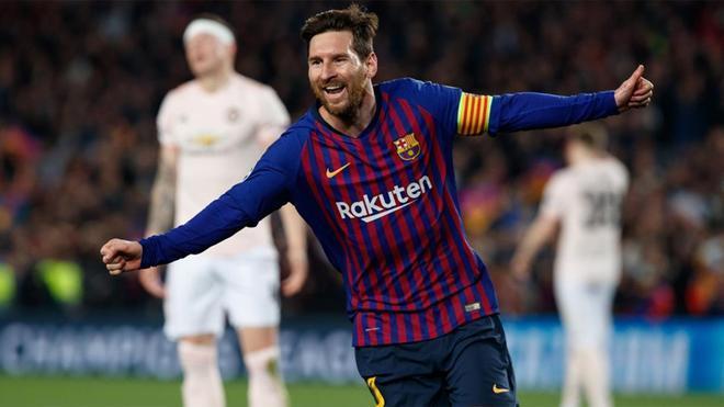 Messi tuvo otra actuación soberbia ante el Manchester United
