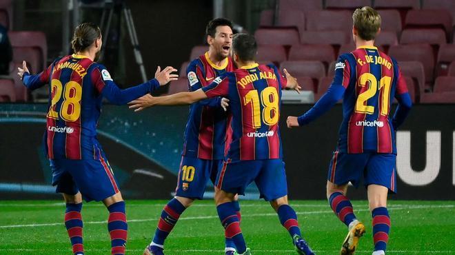 El once del Barça ante el Valencia