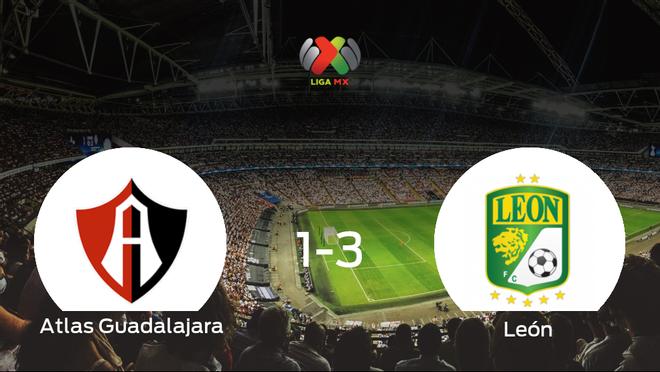 El León vence 1-3 en casa del Atlas Guadalajara
