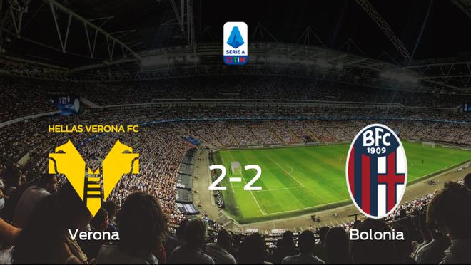El Hellas Verona y el Bolonia se reparten los puntos tras su empate a dos