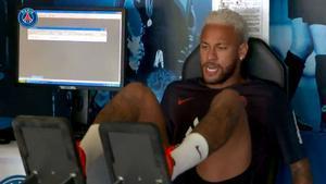 Neymar se presentó en París y entrenó en el gimansio