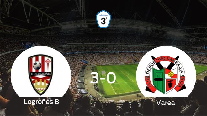 El Logroñés B consigue los tres puntos en casa tras pasar por encima del Varea (3-0)