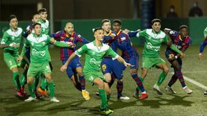 Una acción del Cornellà-Barça de la Copa del Rey 2020/21