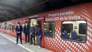 El vagón de FGC dedicado a la 100ª edición de la Volta
