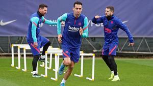 El Barça prepara el encuentro ante el PSG