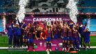 El Barça femenino levanta la Copa de la Reina