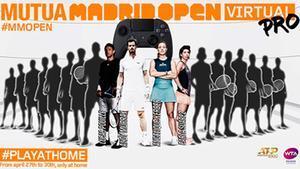 El cartel del Mutua Madrid Open Virtual Pro