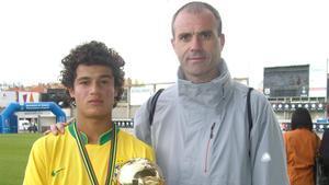 Coutinho, durante su participación en el MIC 2008 junto a Toni Lima, su descubridor en Europa