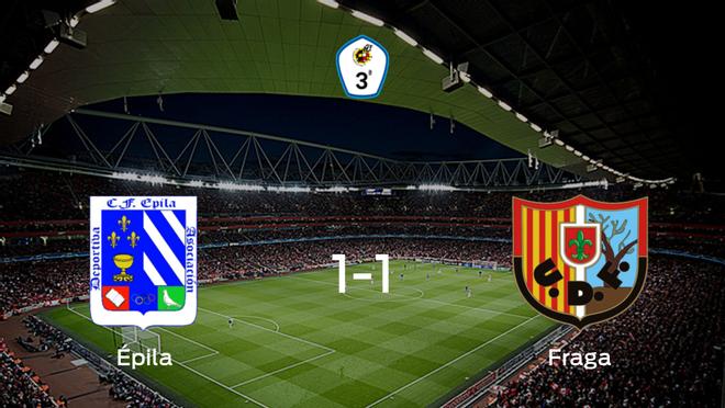 El CF Épilay el Fragase reparten los puntos y empatan 1-1