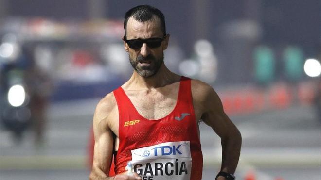 García Bragado entrena en el mismo horario que el resto de la población