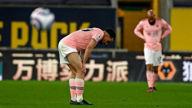 Los jugadores del Sheffield lamentan la derrota