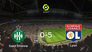 El Olympique Lyon se lleva la victoria tras golear 0-5 al AS Saint Etienne