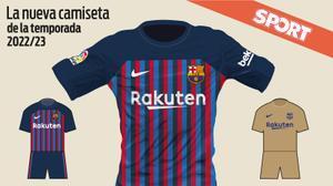 Está será la nueva camiseta del FC Barcelona 2022-23