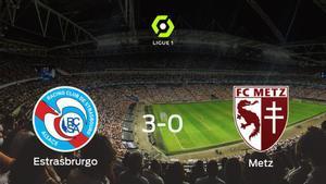 El Racing Estrasburgo consigue la victoria ante el FC Metz con una goleada (3-0)