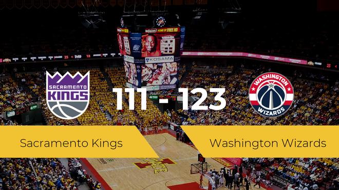 Washington Wizards derrota a Sacramento Kings (111-123)