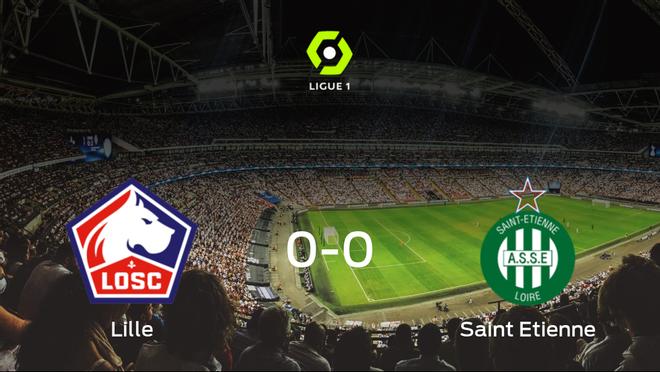 El Lille OSC y el AS Saint Etienne no encuentran el gol y se reparten los puntos (0-0)