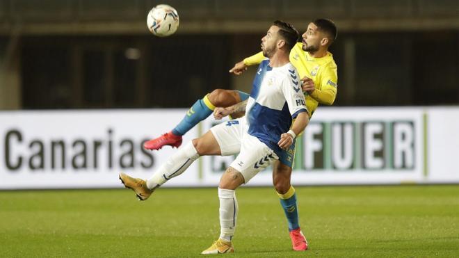 Álvaro Vázquez, en un partido contra la UD Las Palmas