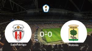 El Sabiñánigo y el Robres no encuentran el gol y se reparten los puntos (0-0)