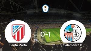 El Salamanca CF B se queda con los tres puntos tras ganar 0-1 al Santa Marta