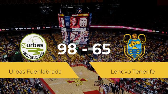 El Urbas Fuenlabrada consigue la victoria frente al Lenovo Tenerife por 98-65