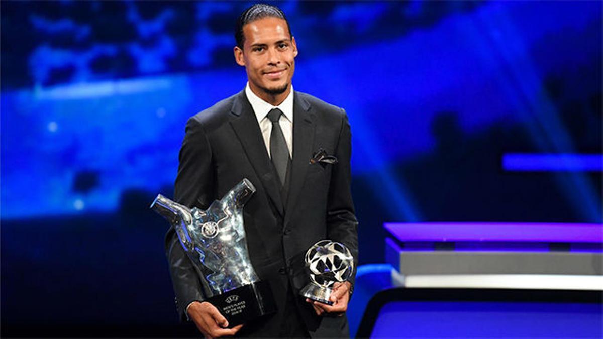 Van Dijk, ganador del Premio al Jugador del Año de la UEFA