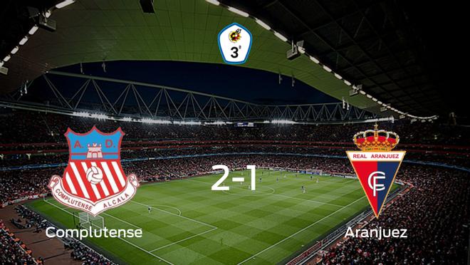 El Complutense Alcalá vence 2-1 en su estadio frente al Real Aranjuez CF