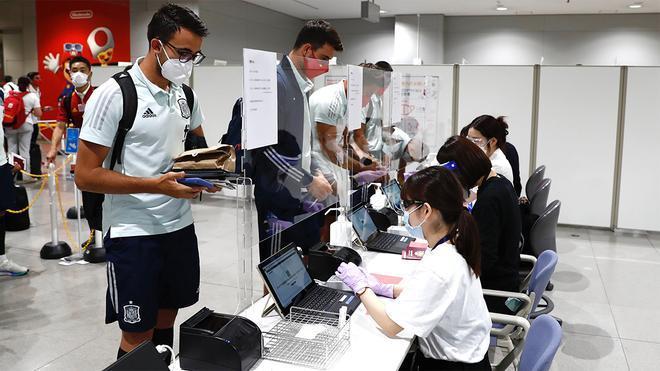 La selección española llega a Kobe para medirse a Japón antes de los JJOO