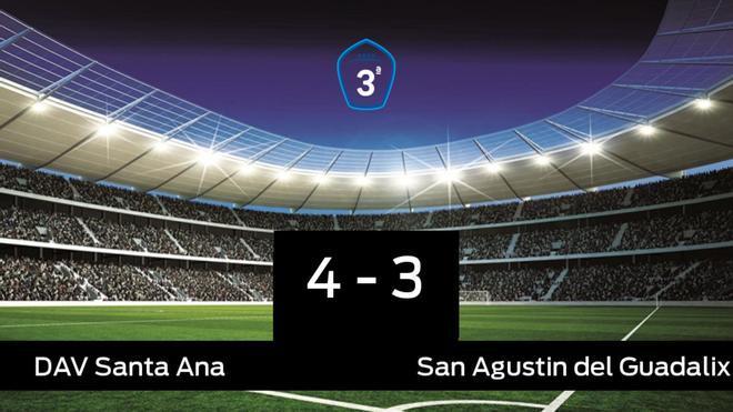 Los tres puntos se quedaron en casa: Santa Ana 4-3 San Agustin del Guadalix