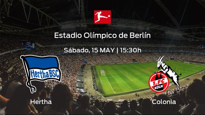 Previa del encuentro: el Hertha Berlín recibe al Colonia en la trigésimo tercera jornada