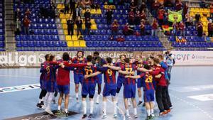 El Barça celebró el título liguero con la afición