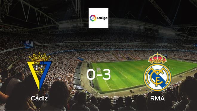 Los Blancos blaze past Cádiz, scoring 3 at Estadio Ramon de Carranza without reply