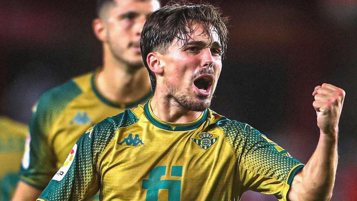 Rodri, celebrando su gol en Granada