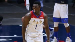 Zion Williamson, durante un partido de los New Orleans Pelicans.