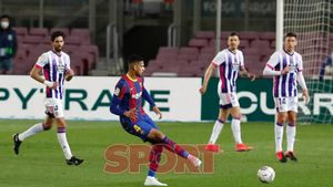 Ronald Araujo en el partido de LaLiga entre el FC Barcelona y el Valladolid disputado en el Camp Nou.