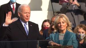 Joe Biden toma posesión de su cargo como el 46º presidente de los Estados Unidos, y así ha sido su primer discurso